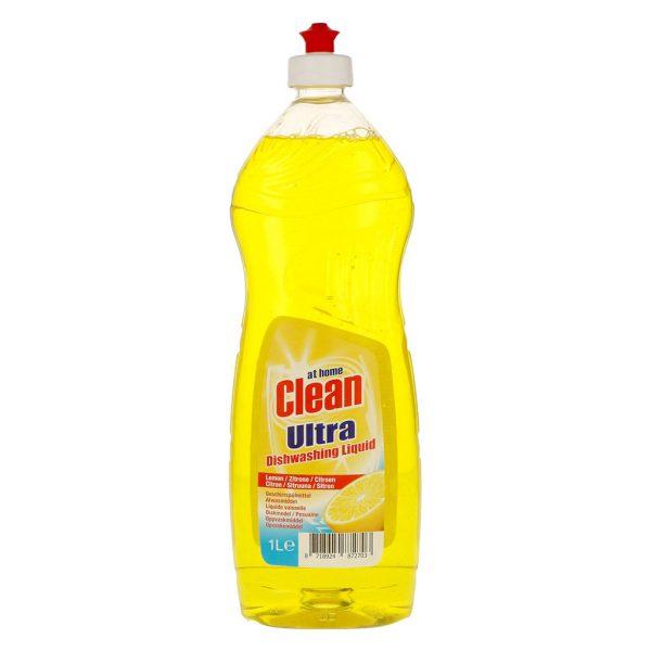 At Home Clean Ultra Dishwashing Liquid 1ltr Lemon